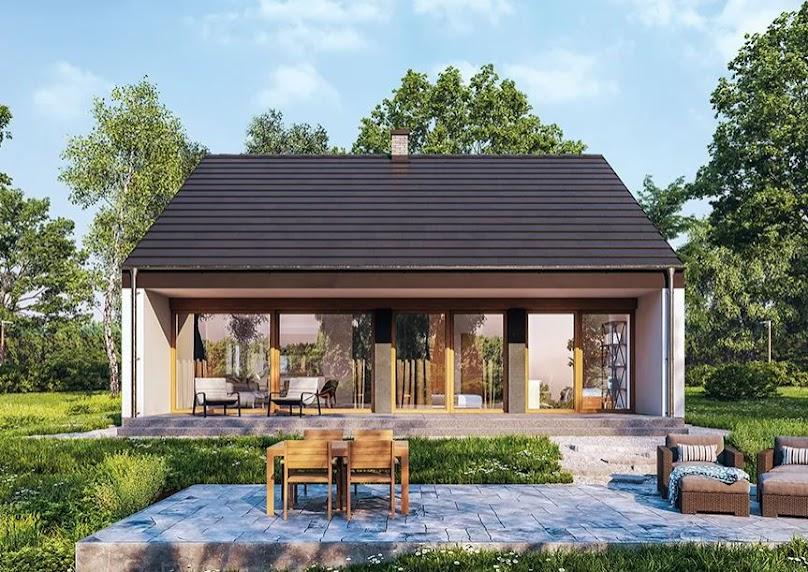 Projekt domu Przejrzysty - wariant XII (89,4 m²)