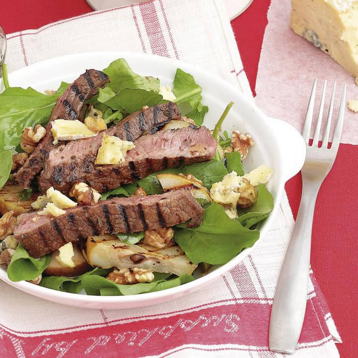 Rosemary Beef with Pear Salad