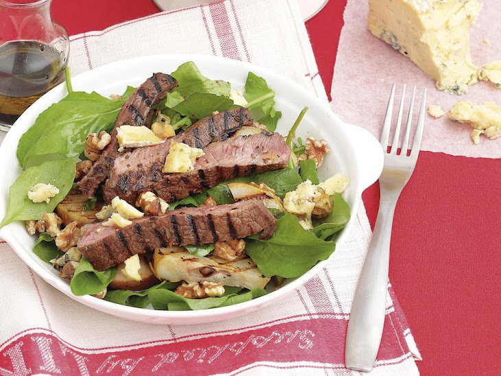 Rosemary Beef with Pear Salad Recipe