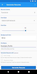 smart resume builder free cv maker templates screenshot thumbnail - Resume Maker Free