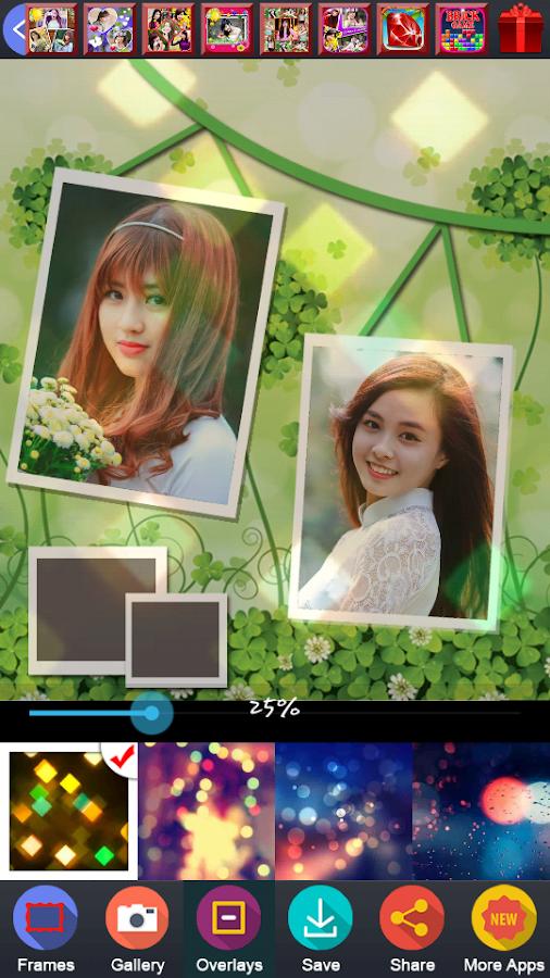 beauty grid frame collage screenshot