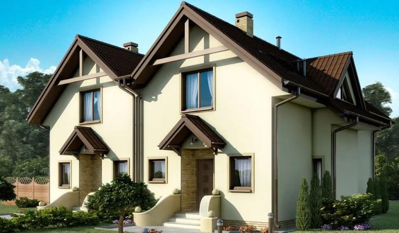 Projektując wnętrze bliźniaka, trzeba mieć na uwadze ograniczenia związane z przyleganiem budynków