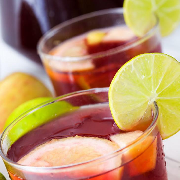 Easy Sangria Recipe - Homemade Spanish Red Wine Sangria