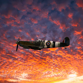 airshow by Gjunior Photographer - Transportation Airplanes ( nature, airplane, sunset, cloudscape, landscape )