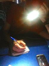 Photo: Writing a blog
