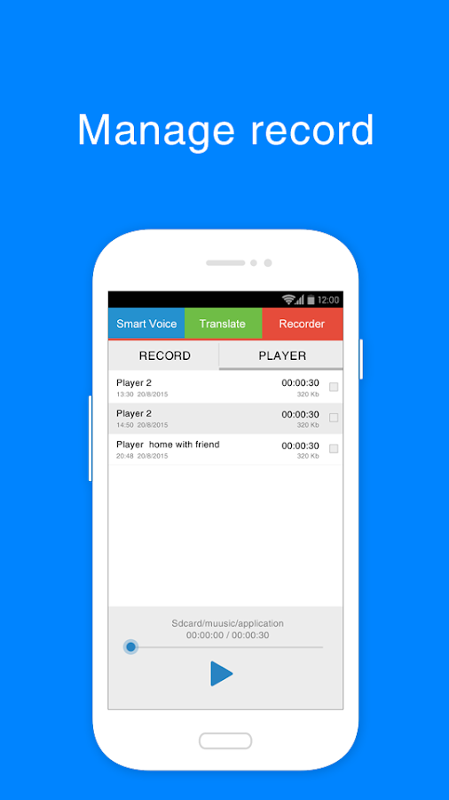 Voice Record - Translator Free- screenshot