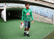 Keagan Dolly during the South African national mens soccer team training session at Moses Mabhida Stadium on September 07, 2018 in Durban, South Africa.