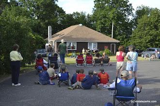 Photo: Guests at performance at Grand Isle State Park by Adam White