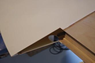 Photo: perçage de l' accès fixation du flaperon