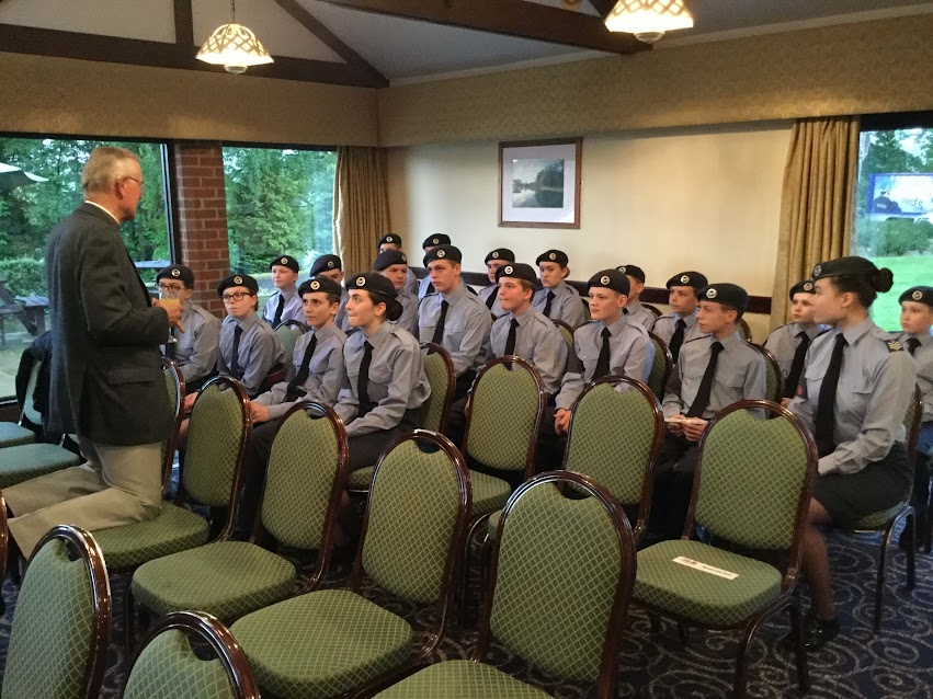 Reverend Canon Eric Knowles with the cadets due to be enrolled at Presentation Evening