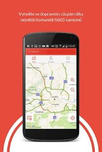 Truckfly, aplikace pro kamiony - náhled
