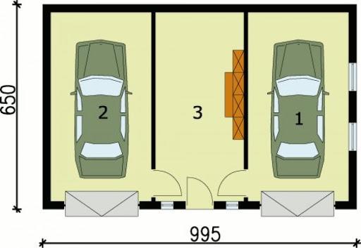 G78 - Rzut garażu