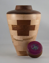"Photo: Bob Grudberg - 6"" x 12"" Urn [maple, walnut]"