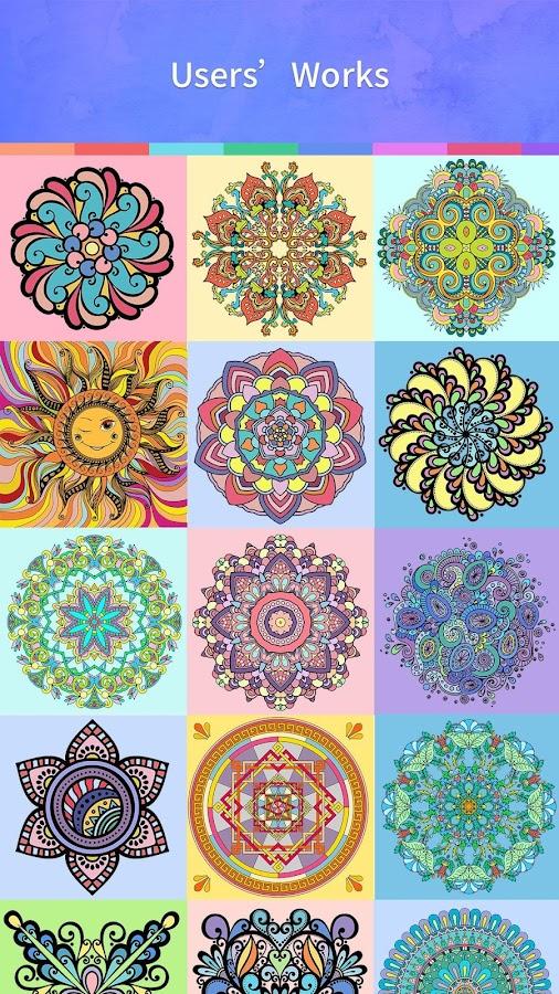 Mandala Coloring Book Screenshot
