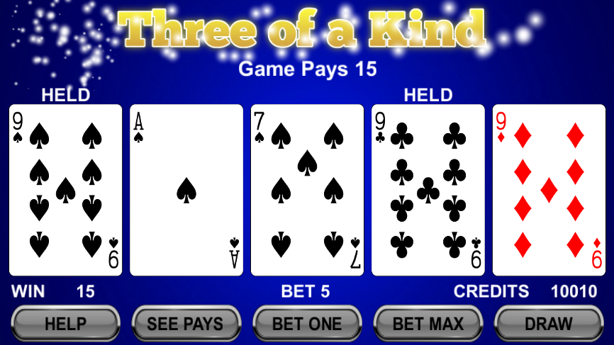 Draw Poker- screenshot