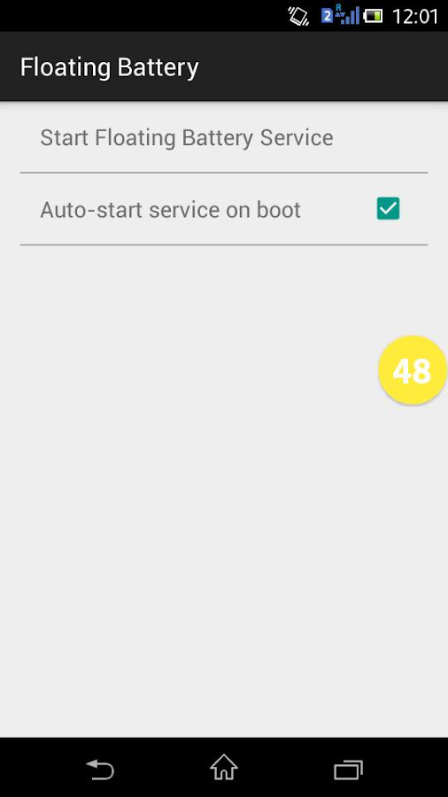 Floating Battery - screenshot