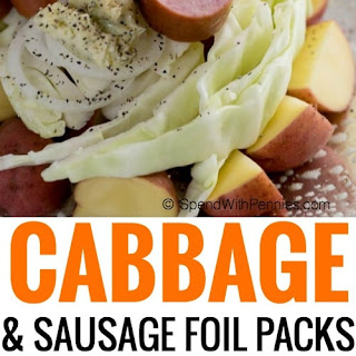 Cabbage and Sausage Foil Packets.