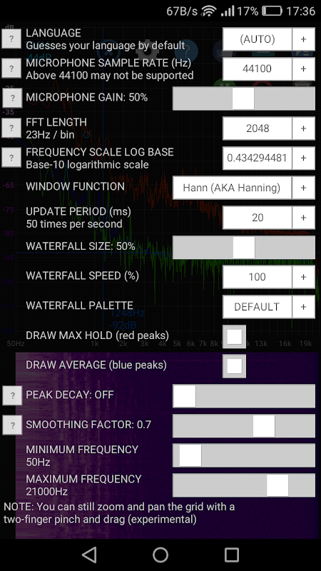 Speccy 📊 Spectrum Analyzer screenshots