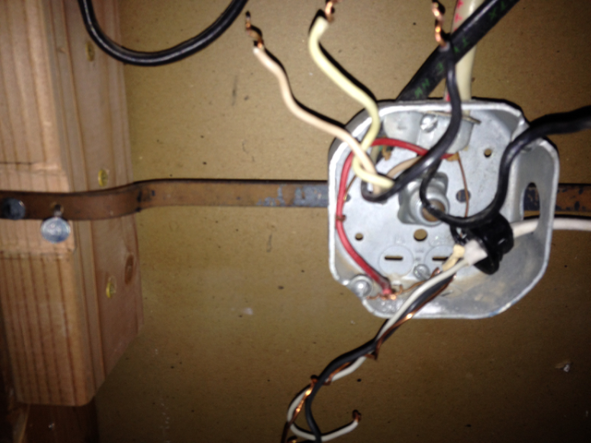 Junction box with loose wiring