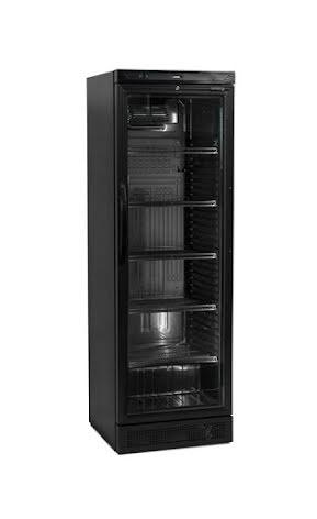 Kylskåp 438 L med glasdörr helsvart<br> CEV425-I 1 LED DOOR, Tefcold