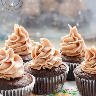 Lindt Lindor Milk Chocolate Cupcakes with Chocolate Buttercream