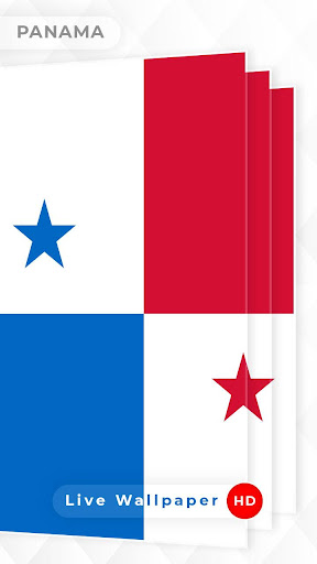 Panama Flag 3D live wallpaper screenshot 1 ...