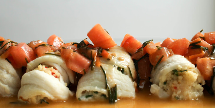 Stuffed Dover Sole with Brown Butter Sauce Recipe