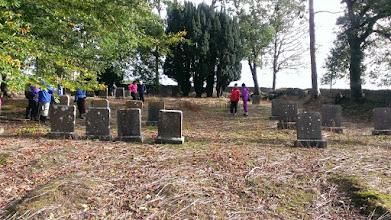 Photo: C walk to the Quaker Graveyard, Cahir, 27th October, 2013. Leader Mo Larkin. Photo Sadie Ryan. 3/11