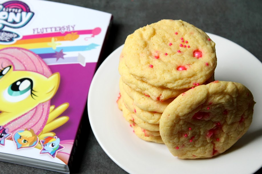 5-Ingredient Fluttershy's Cake Mix Cookies! Perfect treat to enjoy while watching My Little Pony Friendship is Magic: Fluttershy on DVD.