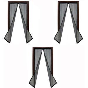 Set 3 perdele magnetice antiinsecte 190 x 100 cm