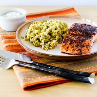 Sumac-Rubbed Salmon Roasted in Olive Oil