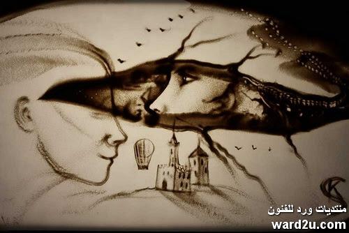 إبداع الرسم بالرمال Kseniya Simonova