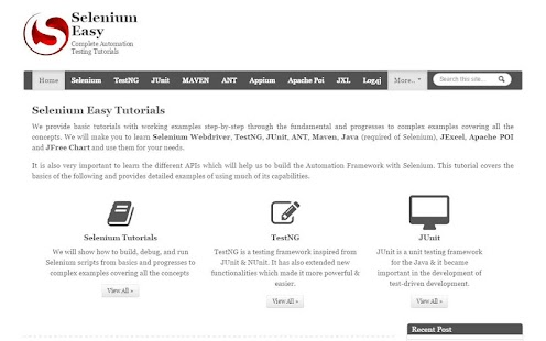 Selenium Easy Tutorials- screenshot thumbnail