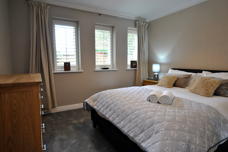 Luxury bedroom at Elizabeth Court