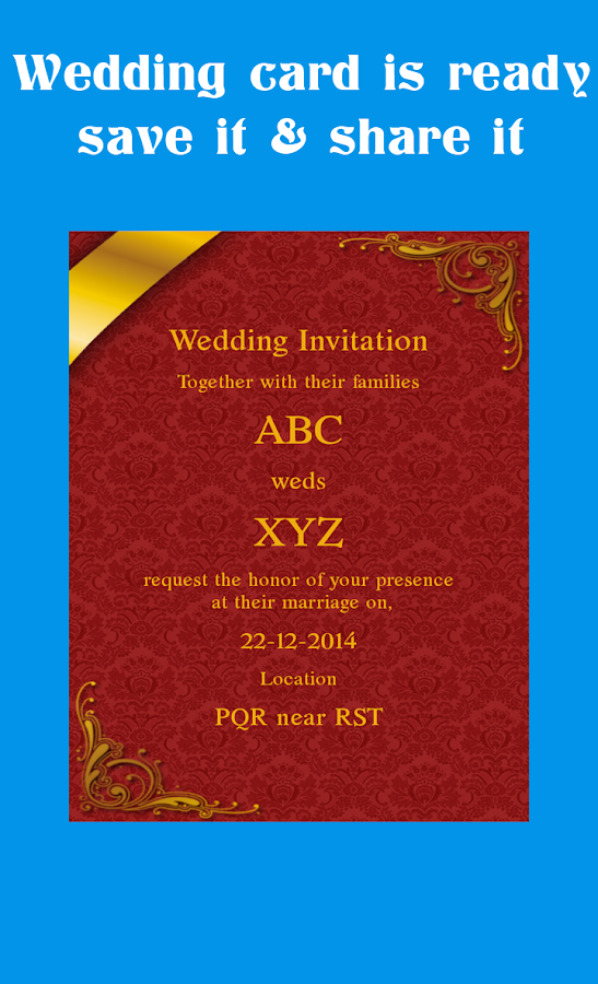 Wedding Card Maker Android Apps on Google Play – Wedding Invitation Cards Online Template