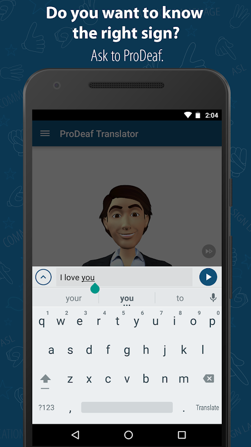 ProDeaf Translator- screenshot