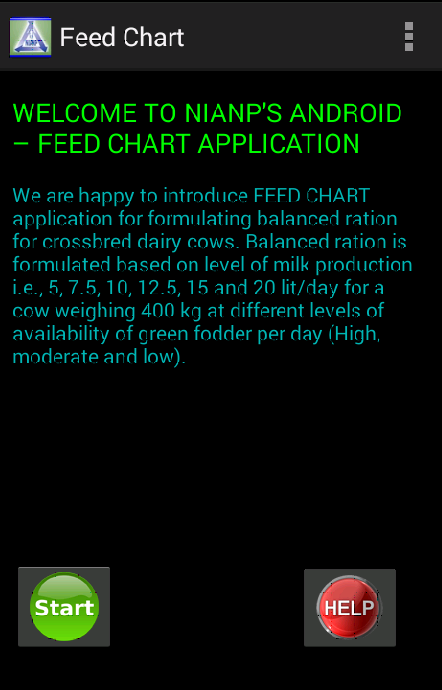 ICAR-NIANP FEED CHART- screenshot