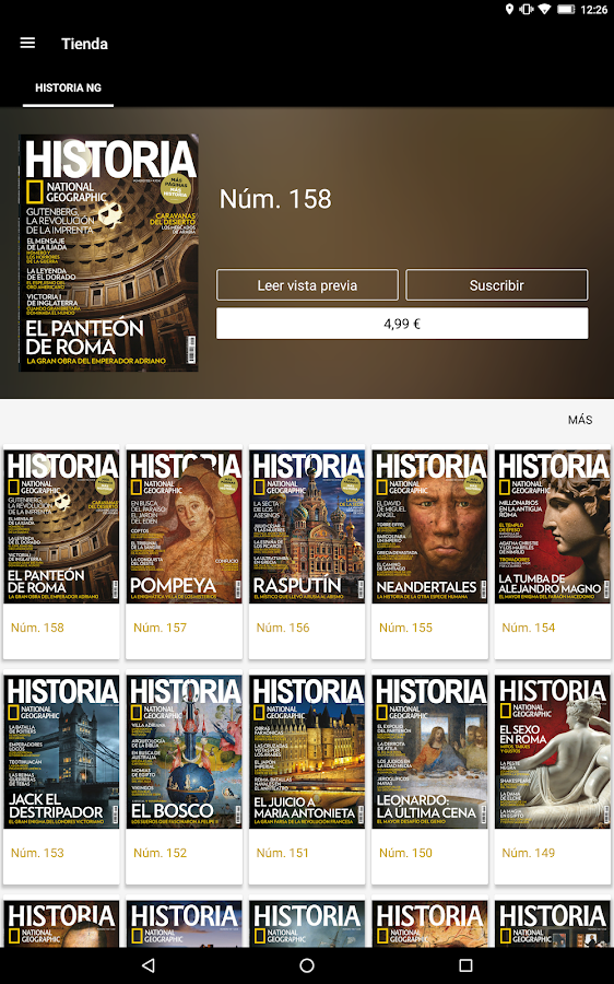 Historia National Geographic- screenshot