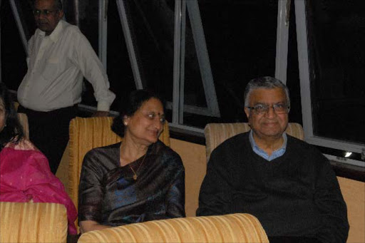 I&M Bank chairman Suresh Raja with his wife.