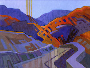 "Photo: ""Diablo North Slopes, Clayton"", acrylic on linen 12"" x 16"", © Nancy Roberts"