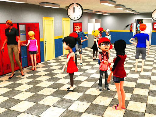 Virtual High School Simulator - School Games 3D apktram screenshots 1