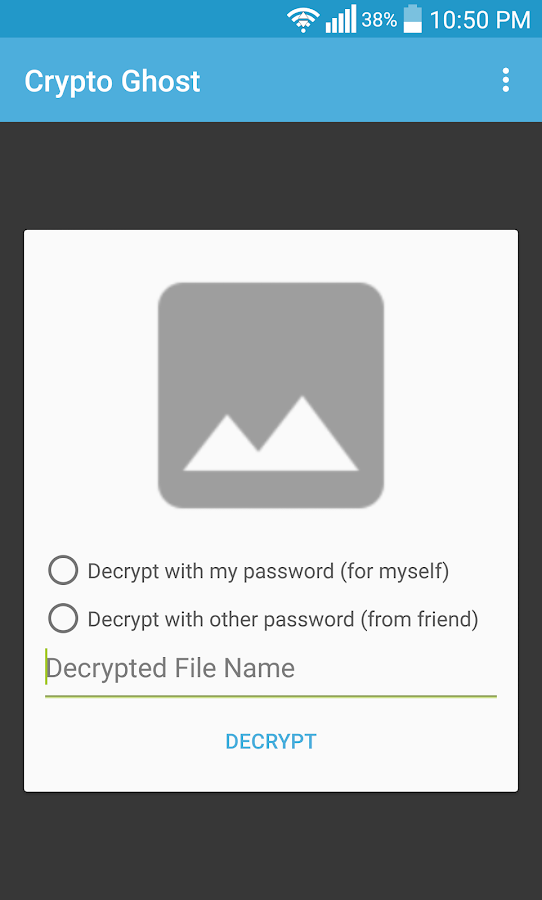Crypto Ghost- File Encryption- screenshot