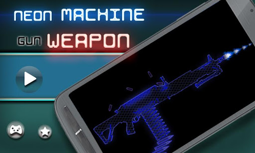 Neon Machine Gun Weapon