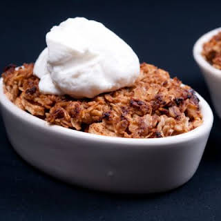 Toasted Oat And Cinnamon Apple Crumble.
