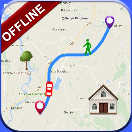 Offline World Map Navigation: GPS Live Tracking