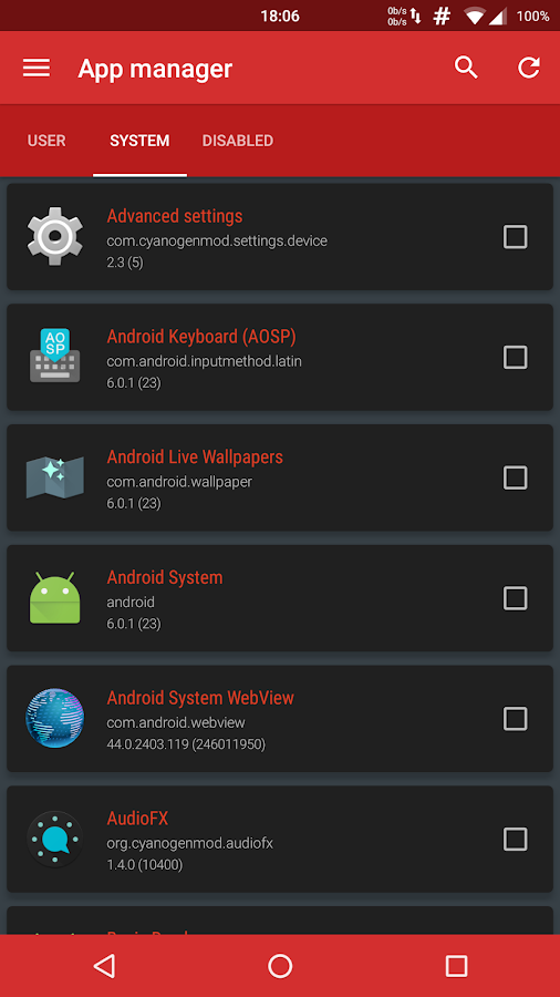 Device Control [root]: captura de pantalla