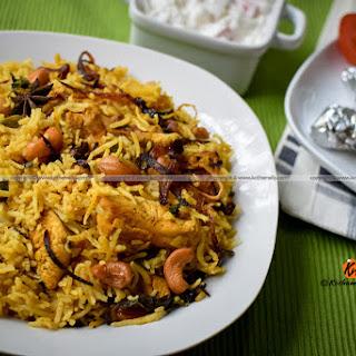 Chicken pulao, Erachi choru with chicken
