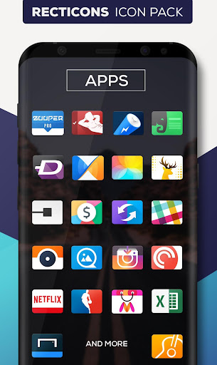 Recticons - Icon Pack Appar för Android screenshot