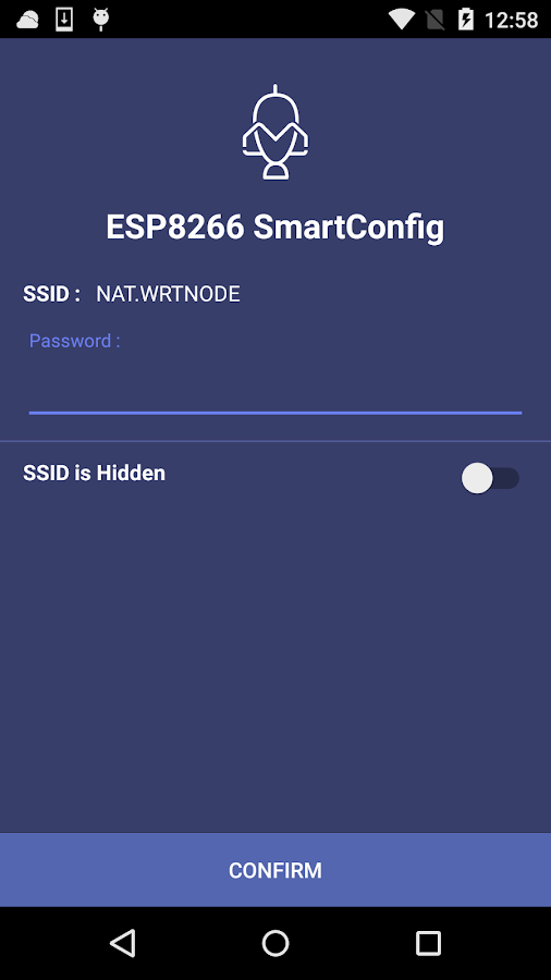ESP8266 SmartConfig- screenshot