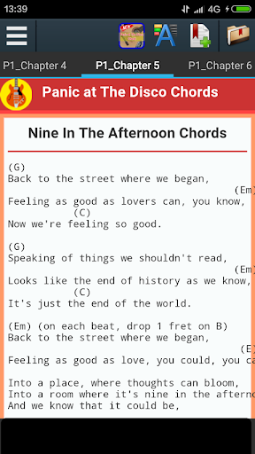 Nice Nine In The Afternoon Chords Composition - Beginner Guitar ...